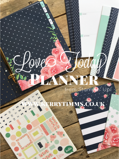 planner plan organise love today stampin up kerry timms cardmaking class gloucester plannergirl papercraft create creative craft hobby wedding plan
