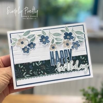 Using the Christmas DSP from the Annual Catalogue with Sweet as a Peach from Stampin' Up!
