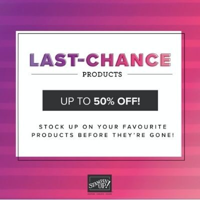 Last Chance Products now available – up to 50% off