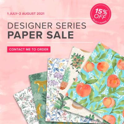 Designer Series Paper Sale from Stampin' Up!